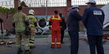 تصادف مرگبار سواری سوزوکی با کامیون در بزرگراه آزادگان
