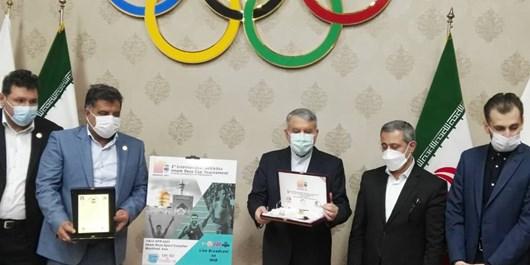 رونمایی از لوگو و مدالمسابقات بین المللی جام امام رضا/صالحی امیری: دوومیدانی در مسیر جهش قرار گرفته است