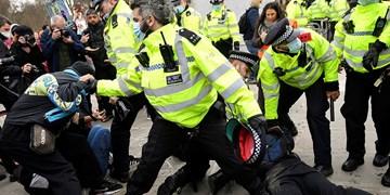 تظاهرات انگلیسیها علیه لایحه افزایش سرکوبگری پلیس ادامه دارد