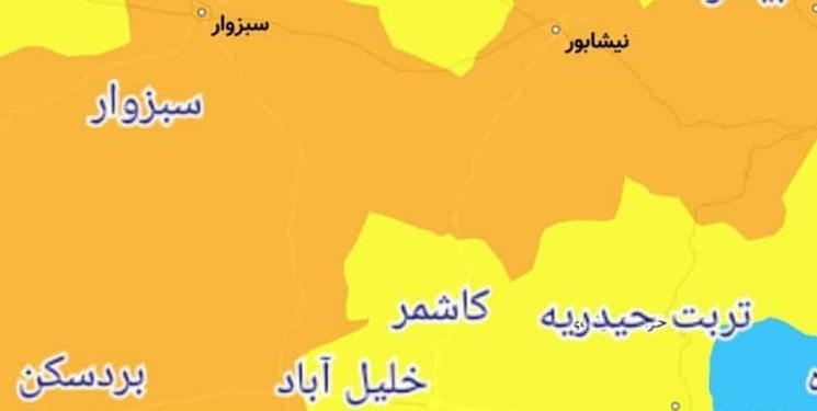 پنجمین شهر در خراسان رضوی نارنجی شد/ اعمال محدودیتهای جدید کرونایی در بردسکن