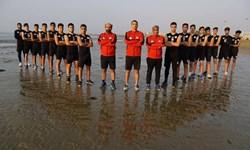 برپایی اردوی هندبالیست های ساحلی ایران در کویر یزد