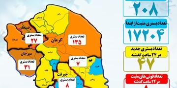 آخرین آمار رسمی کرونا در استان کرمان/4 شهر در وضعیت نارنجی+تصویر