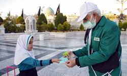 توزیع ۱۰ میلیون ماسک و ۶۰۰ تُن محلول ضدعفونی در حرم رضوی