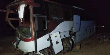سانحه برای اتوبوس تهران- مشهد/ شماری از مسافران آسیب دیدند