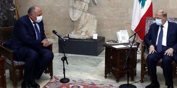 دیدار وزیر خارجه مصر با رئیس جمهور لبنان