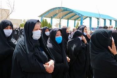 مراسم تشییع شهدای محیط بان در بهشت زهرا زنجان