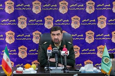 سردار علیرضا لطفی رئیس پلیس آگاهی در نشست خبری