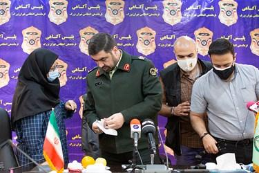 سردار علیرضا لطفی رئیس پلیس آگاهی در پایان نشست خبری