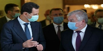 بررسی مقابله با سیاستهای ضد سوری غرب در دیدار فرستاده پوتین و بشار اسد