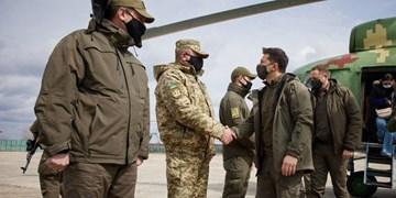 سفر رئیس جمهور اوکراین به خط مقدم/ تماس مرکل و پوتین درباره تنشهای شرق اوکراین