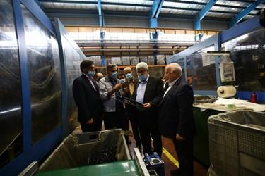 بازدید معاون دادستان کل و اعضای کمیسیون صنایع مجلس از گروه صنعتی انتخاب