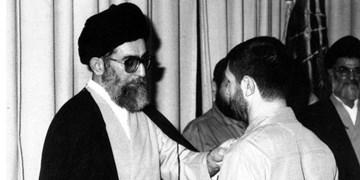 اعطای درجه سپهبدی صیاد شیرازی توسط رهبرانقلاب به فرزند شهید+ فیلم