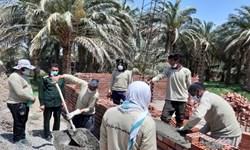 فعالیت محرومیت زدایی ۱۲ گروه جهادی در روستاهای ریگان