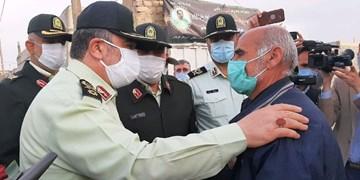فیلم | دیدار فرمانده نیروی انتظامی با خانواده شهید رجایی، شهید پاسگاه کورین زاهدان