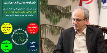 ثبت ۵۳ شرکت در پنجره واحد فیزیکی شروع کسب و کار اتاق تبریز
