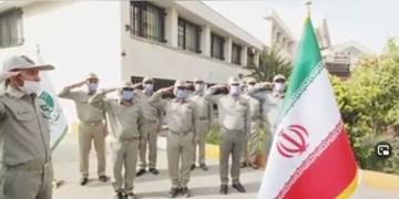 فیلم| ادای احترام محیطبانان مازنی به شهیدان  مجلل و هاشمی