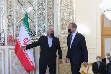 استقبال محمد جواد ظریف از سرگئی لاوروف  وزیر امور خارجه روسیه