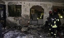 آتش، یک خانواده چهار نفره در سنقرو کلیایی  را راهی بیمارستان کرد