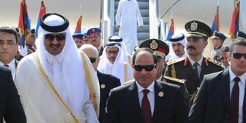 نخستین تماس تلفنی امیر قطر و رئیس جمهور مصر پس از آشتی دو کشور