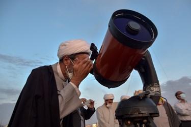 نماینده ولی فقیه در خراسان شمالی  در حال رصد  ماه