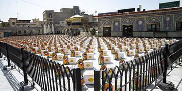 توزیع 1100 بسته معیشتی درآستان امامزاده صالح (ع)