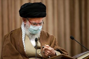 رهبر معظم انقلاب در مراسم مجازی انس با قرآن کریم همزمان با اولین روز از ماه رمضان در مصلای امام خمینی(ره)