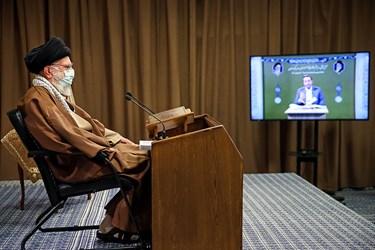 رهبر معظم انقلاب در مراسم مجازی انس با قرآن کریم از طریق ارتباط تصویری با چند تن از قاریان ممتاز کشور