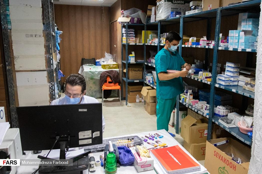 داروخانه بیمارستان پشتیبان بیماران کووید ۱۹ شهید دستغیب شیراز