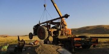 توقیف یک دستگاه غیرمجاز حفاری چاه در اراضی سیدآباد شهرستان چناران