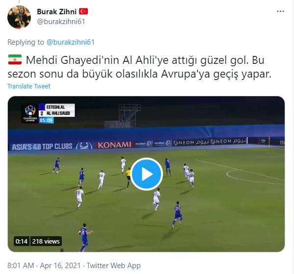 مهدی قایدی در آستانه حضور در لیگ های اروپایی +عکس