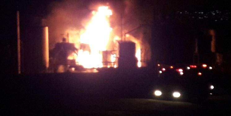 آتش سوزی در کارگاه تصفیه روغن بستانآباد
