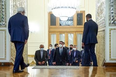 ورود نیکلا ساکوویچ وزیر خارجه صربستان به محل دیدار با محمد جواد ظریف وزیر امور خارجه