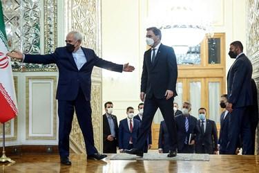 استقبال محمدجواد ظریف وزیر امور خارجه از نیکلا ساکوویچ وزیر خارجه صربستان