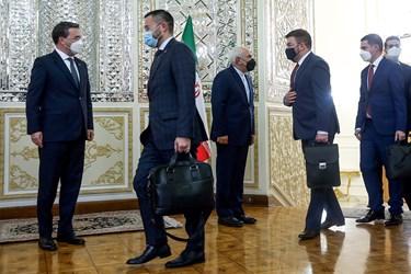 استقبال محمدجواد ظریف وزیر امور خارجه از هیات همراه نیکلا ساکوویچ وزیر خارجه صربستان