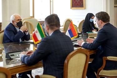 دیدار محمدجواد ظریف وزیر امور خارجه با نیکلا ساکوویچ وزیر خارجه صربستان