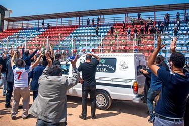 اخرین حضور نادر دستنشان در ورزشگاه شهید وطنی و اخرین تشویق هواداران قاعمشهری
