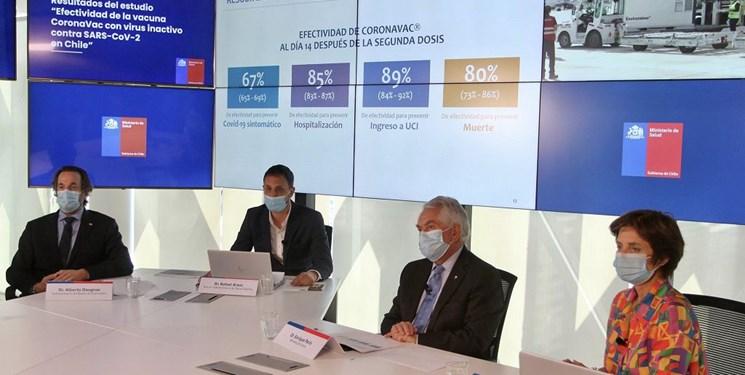 تاثیر واکسن سینوواک در شیلی 67 درصد اعلام شد