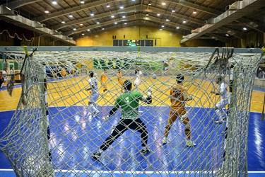 دیدار تیم های فوتسال مس سونگون و گیتی پسند در ورزشگاه هندبال انقلاب تهران