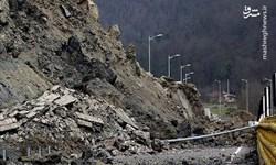 ریزش کوه در دفراز عمارلو/ به کسی آسیب نرسید