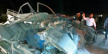 5 کشته  حاصل برخورد  وانت تویوتا با پژو 405 در محور زاهدان به خاش