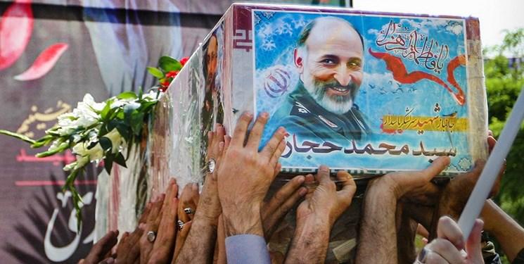 مراسم تشییع پیکرسردار شهید سید محمد حجازی