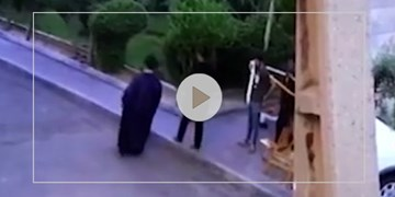پشت صحنه کلیپ تعرض به یک روحانی