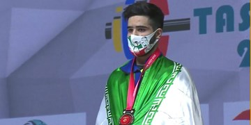 قهرمانی وزنهبرداری آسیا| جوادی در حرکت دوضرب و مجموع دسته 73  کیلوگرم پنجم شد