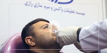 تزریق نخستین دوز استنشاقی واکسن کرونا رازی کووپارس