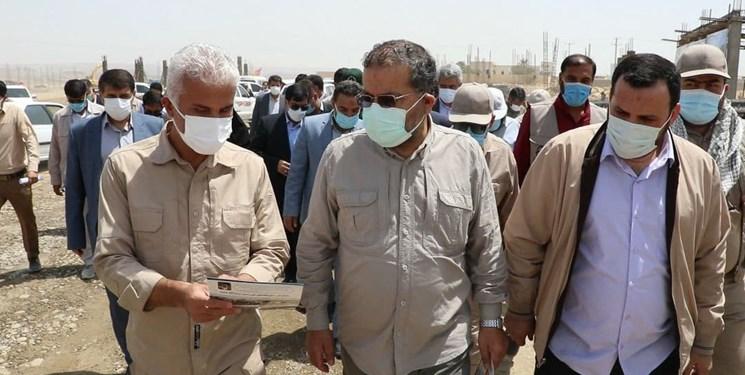 بازدید رئیس سازمان بسیج مستضعفین از پروژه 1000 واحدی مسکن محرومین حاشیه چابهار