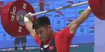 قهرمانی وزنهبرداری آسیا| رکورد دسته 81 کیلوگرم در دو دقیقه دو بار جابجا شد+عکس