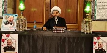 مراسم یادبود شهید حجازی در حرم حضرت رقیه برگزار شد+عکس