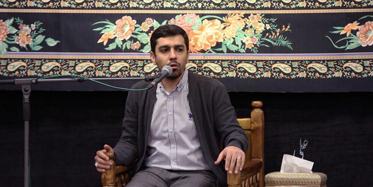 مرثیهخوانی حنیف طاهری در عزای حضرت خدیجه + فیلم