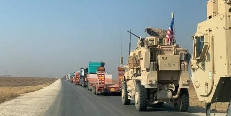 کاروان بزرگ نظامی آمریکا از عراق راهی سوریه شد