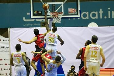 فینال لیگ برتر بسکتبال بین تیم های مهرام و شهرداری گرگان